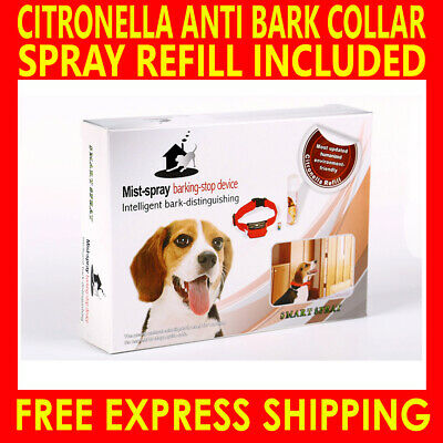 Automatic Humane Citronella Anti Bark Training Spray Dog Collar Stop Barking Au