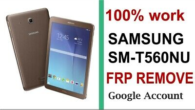 Remote Google Account Removal/Reset FRP Samsung Galaxy Tab E SM-T560NU