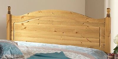 Solid 3Ft Antique Pine Orlando Headboard To Fit A Divan Bed Can Match Furniture