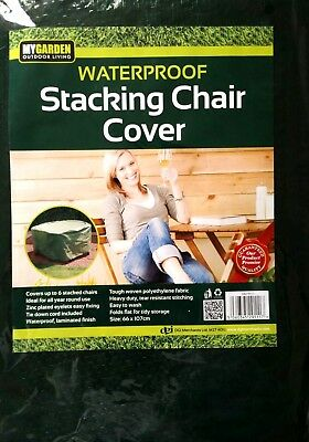 Heavy Duty Waterproof Stacking Chair Cover  Easy To Wash Size 66 X 107Cm