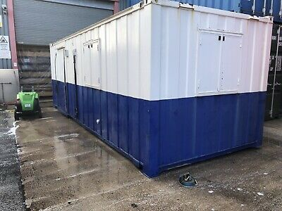 Site Cabin Welfare Unit 24'x9' Great Condition Office Reception Kitchen Sink