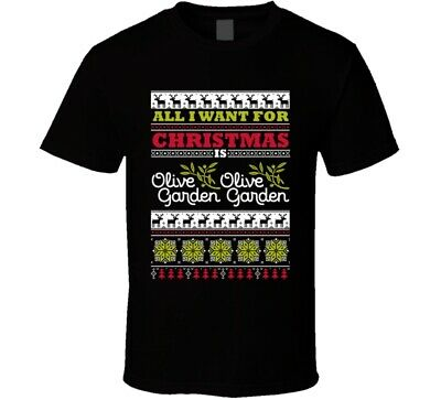 All I Want For Christmas Olive Garden Italian Restaurant Food Logo Ugly Sweater