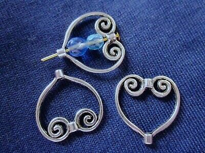 10 Antique Silver Celtic Style Heart Bead Frames 21mm x 20mm x 3mm #1865 Craft