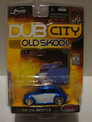 Jada Dub City Old Skool '59 VW Beetle Blue Wave 1 Collector #002 1:64 C15-302