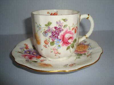 Royal Crown Derby - Derby Posies - Demi Tasse Coffee Cup and Saucer (sev. avail)
