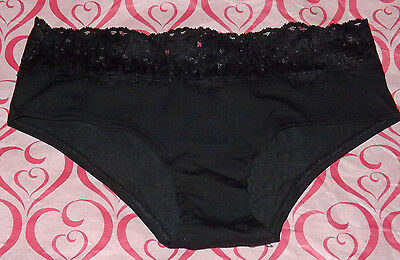 af8c21e28631c NEW NIP SEXY Victoria's Secret Pink Cotton Hipster Panty Lace Red ...