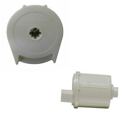 """Rollease R8 -1"""" Roller Shade Clutch (R8C02W)& End Pin (REP02W) Set,in White"""