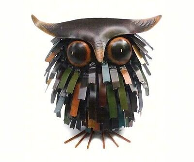 Spiky Owl Metal Sculpture Figurine - Free Shipping!