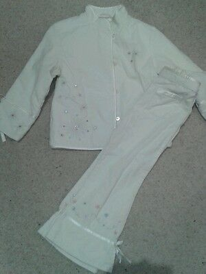 M&S girls Jacket and Matching trousers .age 3-4. Amazing detail...