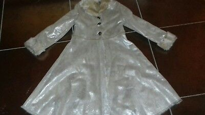 ADAMS girls faux sheepskin GOLD shimmer coat 10 years. STUNNING