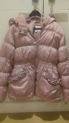 John Rocha  RJR Girls Pale Lilac/Pink Winter Puffa Jacket 11-12 Years