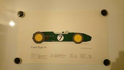 LOTUS TYPE 18 1960 Vintage Car 43cm x 25cm  Poster