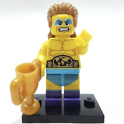 WRESTLING CHAMPION NEW Lego Series 15 Collectible Minifigure With Checklist