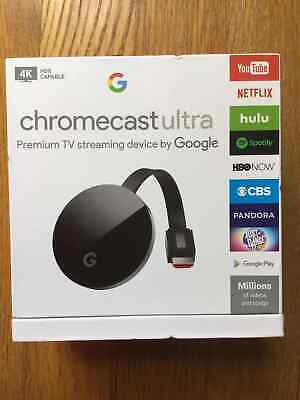 BRAND NEW Google Chromecast Ultra 4K HDMI Media Streaming Player