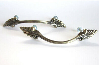 vintage victorian inspired drawer pull w light brass finish by the pair
