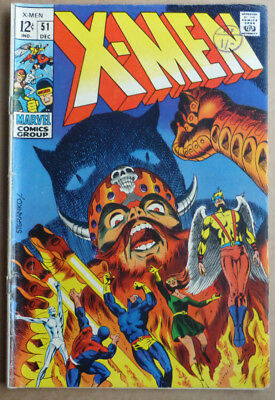 X-Men #51, Classic Silver Age With Great Cover, 1968.