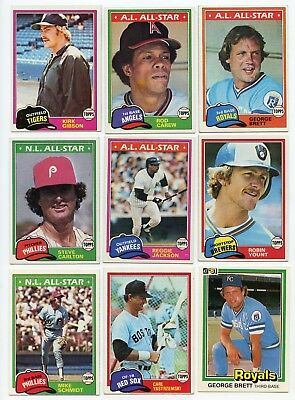 HUGE Lot of 4,847 Baseball Cards Topps Fleer ++ 1981 to 2017 Loaded with HOFers