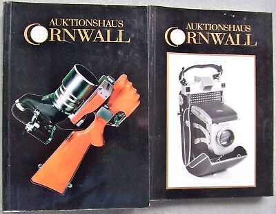 2 x AUKTIONSHAUS CORNWALL  PHOTOGRAPHICA AUCTION CATALOGUES IN GERMAN.  1992