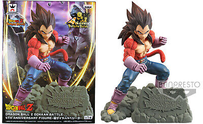 Dragonball Z 4th Anniversary ~ SS4 VEGETA DOKKAN BATTLE STATUE ~ Banpresto DBZ