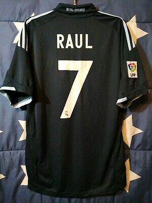37020024199 REAL MADRID SPAIN 2009-2010 Away Football Shirt Jersey Raul  7 ...