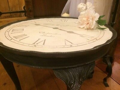 Vintage Shabby chic hand painted circular coffee table console table/side table