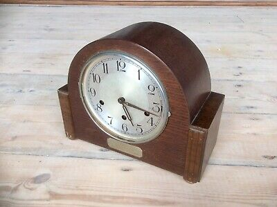 Antique Mantel Clock,HALLER Brass Movement,WESTMINSTER CHIME,Art Deco,MASONIC
