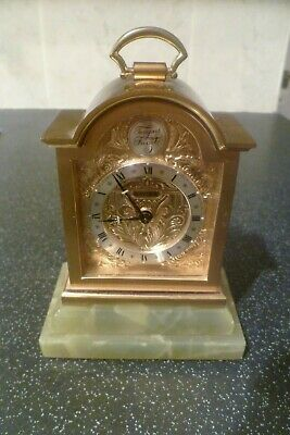 Vintage SWIZA 8 Day Domed 'Tempus Fugite' Miniature Carriage Clock, Mechanical