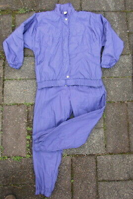 Vintage 80s/90s Tracksuit Set Windbreaker Jacket Pants Hip Hop Nylon PURPLE L