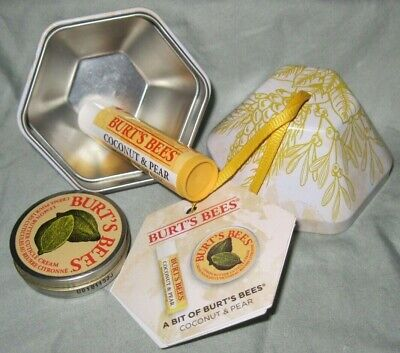 A Bit Of Burt's Bees Coconut & Pear Lip Balm Lemon Butter Cuticle Cream Bx G
