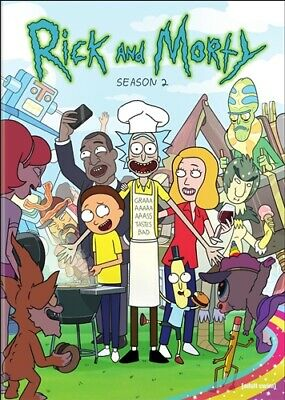 RICK AND MORTY TV SERIES COMPLETE SEASON 2 TWO New Sealed DVD Adult Swim
