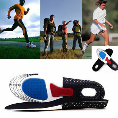 Unisex Gel Orthotic Sport Running Insoles Insert Shoe Pad Arch Support Cushion.