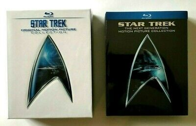 Star Trek & Next Generation Motion Picture Collections Blu Ray Box Sets Like New