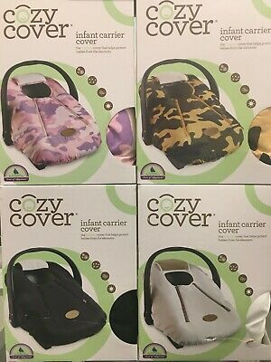 COZY COVER Infant Carrier Cover  Colors:Pink Camo, White, Cayenne or Green Camo