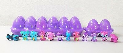 Season 1 Hatchimals Colleggtibles 12 Piece w/2 Purple Cartons Cracked/Open Eggs