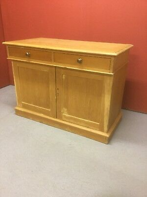 Antique Pine Kitchen Cupboard With Drawers 122a