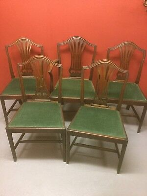 Antique Set Of Georgian Style Dining Chairs Sn-143a