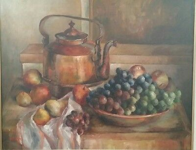 "Colorful Still Life Oil Painting By Listed New England Artist ""Irene Breen""!"
