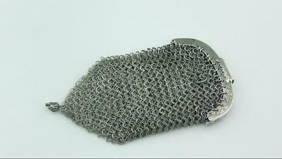 Georgian Solid Sterling Silver Mesh Coin Purse, Sovereign Purse