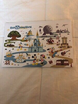 Disney ParksDisney World Mickey and Friends Pop Up Attractions Card w/ Envelope
