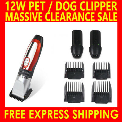 Electric Dog Pet Clipper Kit Blade Comb Set Cat Animal Hair Grooming Cordless