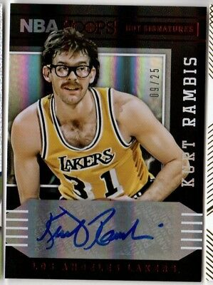 2014-15 NBA Hoops Autograph Hot Signatures Auto LA Lakers Kurt Rambis #'d 09/25