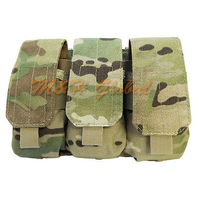 MOLLE Triple Mag Pouch 7.62mm or 5.62mm  Magazine Pouch Holster Multicam
