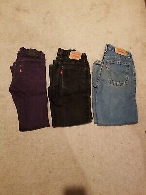 Boys  Levis  2 550 relaxed 1510 super skinny Jeans Size10  Lot 3