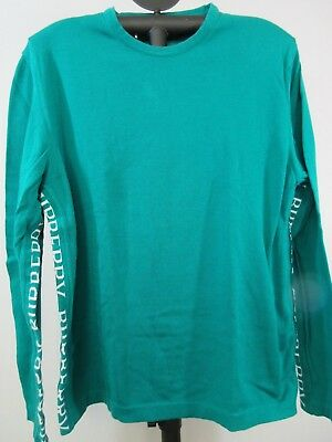 Burberry London Mens T-Shirt Green Cotton Blend Made In Italy Size L