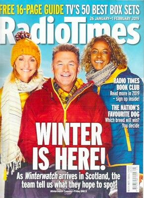 RADIO TIMES WINTER WATCH IS HERE Jan-Feb 2019 Best Box Sets Magazine Collectable