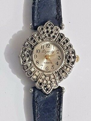 Vintage Dynasty Watch Women quartz genuine leather wristwatch