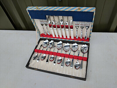 6xSets 24 Pieces Gold Stainless Steel Cutlery Catering Wedding Modern Plain