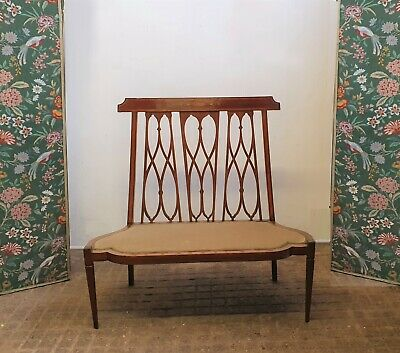 Arts And Crafts / Art Nouveau Inlaid  Settee ,Bench , Settle