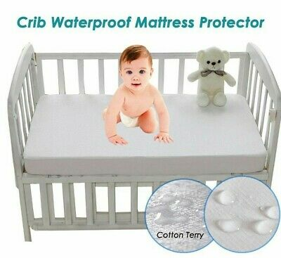 Cotton Terry Waterproof Mattress Protector For Baby Toddler Bed Cover Mattress P