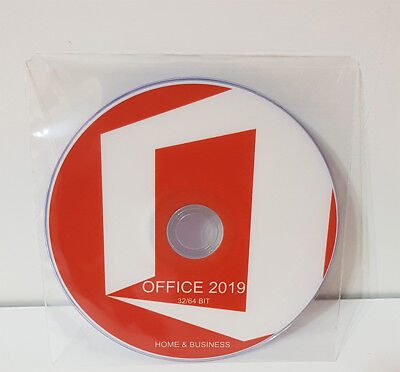 Dvd - Office 2019 Home & Business 32/64 Bit Full [Italiano] *New*